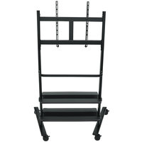 Luxor WFP200-B Flat Panel TV Cart with 2 Shelves for 32 inch to 80 inch Screens