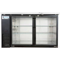 Avantco UBB-2G 59 inch Glass Door Back Bar Cooler with Stainless Steel Top and LED Lighting