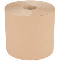 VonDrehle 8888K 1-Ply Preserve Brown Natural Kraft Center Pull Paper Towel 1000' Roll   - 6/Case