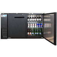 Avantco UBB-2 59 inch Solid Door Back Bar Cooler with Stainless Steel Top and LED Lighting