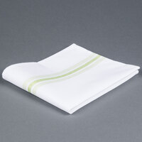 Marko 53771822NH076 Softweave Bistro 18 inch x 22 inch Lime Green Striped Napkin - 12/Pack