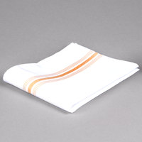 Marko 53771822NH008 Softweave Bistro 18 inch x 22 inch Gold Striped Napkin - 12/Pack
