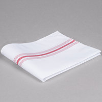 Marko 53771822NH001 Softweave Bistro 18 inch x 22 inch Red Striped Napkin - 12/Pack