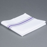 Marko 53771822NH052 Softweave Bistro 18 inch x 22 inch Purple Striped Napkin - 12/Pack