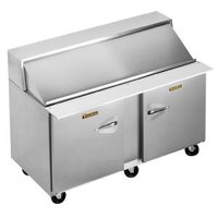 Traulsen UPT6012-LR 60 inch Sandwich / Salad Prep Refrigerator with One Left Hinged and One Right Hinged Door