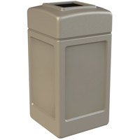 Commercial Zone 732102 PolyTec 42 Gallon Beige Waste Container