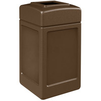 Commercial Zone 732137 PolyTec 42 Gallon Brown Waste Container