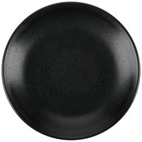Hall China 303030AFCA Foundry 5 1/2 inch Black Ceramic Round Coupe Plate - 12 / Case