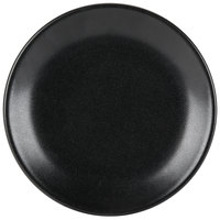 Hall China by Steelite International HL303050AFCA Foundry 7 1/8 inch Black China Round Coupe Plate - 12/Case