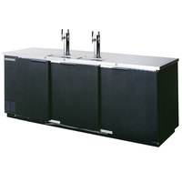 Beverage-Air DD94HC-1-B-069 (2) Triple Tap Kegerator Beer Dispenser - Black, (5) 1/2 Keg Capacity