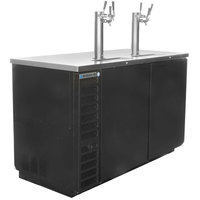 Beverage-Air DD58HC-1-B-069 (2) Triple Tap Kegerator Beer Dispenser - Black, (3) 1/2 Keg Capacity