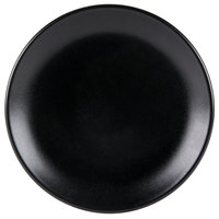 Hall China 303080AFCA Foundry 9 5/8 inch Black Ceramic Round Coupe Plate - 12 / Case