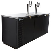 Beverage-Air DD78HC-1-B-069 (2) Triple Tap Kegerator Beer Dispenser - Black, (4) 1/2 Keg Capacity