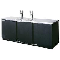 Beverage-Air DD78HC-1-B-069 (2) Triple Tap Kegerator Beer Dispenser - Black, (4) 1/2 Keg Capacity
