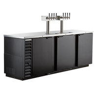 Beverage-Air DD94HC-1-B-144 (2) Four Tap Kegerator Beer Dispenser - Black, (5) 1/2 Keg Capacity