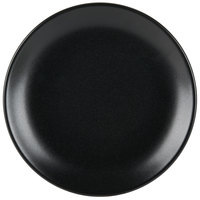 Hall China 303100AFCA Foundry 10 3/8 inch Black Ceramic Coupe Plate - 12 / Case