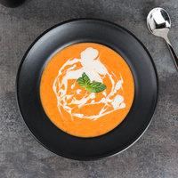 Hall China 306060AFCA Foundry 12 oz. Black China Mediterranean Rim Soup Bowl - 12/Case