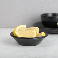 Hall China 301620AFCA Foundry 4.5 oz. Black China Fruits Bowl / Monkey Dish - 24/Case