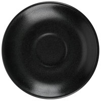 Hall China 302850AFCA Foundry 4 7/8 inch Black China A.D. Cup Saucer for A.D. Cup - 24/Case