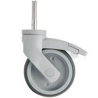 Cambro Camshelving® EMCWB000 5 inch Premium Stainless Steel Swivel Caster with Brake for Elements Series Mobile Shelving Units