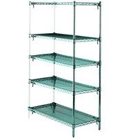Metro 5AA377K3 Stationary Super Erecta Adjustable 2 Series Metroseal 3 Wire Shelving Add On Unit - 18 inch x 72 inch x 74 inch