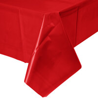 Creative Converting 011031B 54 inch x 108 inch Classic Red Disposable Plastic Table Cover