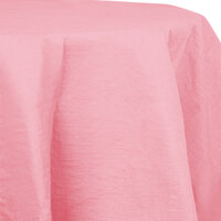 Creative Converting 923274 82 inch Classic Pink OctyRound Tissue / Poly Table Cover