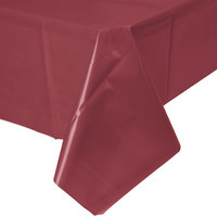 Creative Converting 723122 54 inch x 108 inch Burgundy Disposable Plastic Table Cover