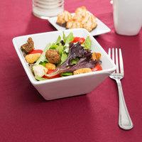 World Tableware SL-19 Slate 20 oz. Ultra Bright White Square Porcelain Bowl   - 24/Case