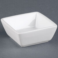 World Tableware SL-3 Slate 2.75 oz. Ultra Bright White Square Porcelain Dipping Bowl - 36/Case