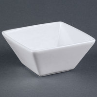World Tableware SL-111 Slate 11 oz. Ultra Bright White Square Porcelain Bowl - 36/Case