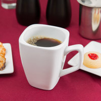 World Tableware SL-1 Slate 9 oz. Ultra Bright White Tall Porcelain Cup   - 36/Case