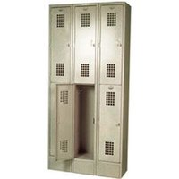 Winholt WL-6 Triple Column Six Door Locker - 12 inch x 12 inch