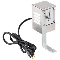 Optimal Automatics 40017 Motor with Cover and Bracket for Party Que 300 and 350 Rotisserie Grills - 120V