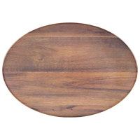 Carlisle EAG0469 Epicure Acacia 18 inch x 15 inch Woodgrain Oval Platter   - 6/Case