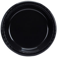 Creative Converting 28134031B 10 inch Black Velvet Plastic Banquet Plate - 50/Pack