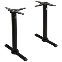 FLAT Tech CT2030 22 inch Auto Adjustable Black End Table Base Set
