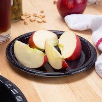 Creative Converting 28134011B 7 inch Black Velvet Plastic Lunch Plate - 50/Pack