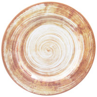 Carlisle 5400617 Mingle 12 1/2 inch Copper Round Melamine Charger Plate - 12 / Case