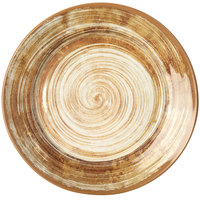 Carlisle 5400617 Mingle 12 1/2 inch Copper Round Melamine Charger Plate - 12/Case