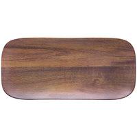 Carlisle EAG0769 Epicure Acacia 6 3/4 inch x 14 3/4 inch Woodgrain Rectangular Melamine Tray - 12 / Case