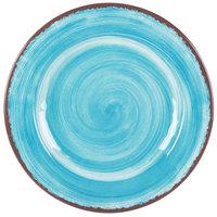 Carlisle 5400115 Mingle 11 inch Aqua Round Melamine Plate - 12/Case
