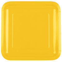 Creative Converting 463269 9 inch School Bus Yellow Square Paper Plate - 18/Pack