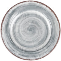 Carlisle 5400118 Mingle 11 inch Smoke Round Melamine Dinner Plate - 12 / Case