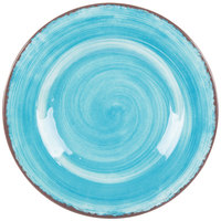Carlisle 5400215 Mingle 9 inch Aqua Round Melamine Salad Plate - 12/Case