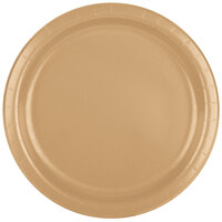 Creative Converting 47103B 9 inch Glittering Gold Paper Dinner Plate - 24 / Pack