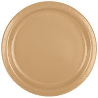 Creative Converting 47103B 9 inch Glittering Gold Paper Plate - 24/Pack