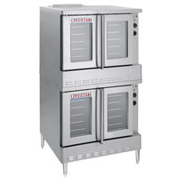 Blodgett SHO-100-G Natural Gas Double Deck Full Size Convection Oven - 100,000 BTU