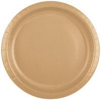 Creative Converting 50103B 10 inch Glittering Gold Paper Plate - 24/Pack