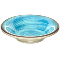 Carlisle 5401815 Mingle 4.5 oz. Aqua Melamine Fruit Bowl - 48/Case